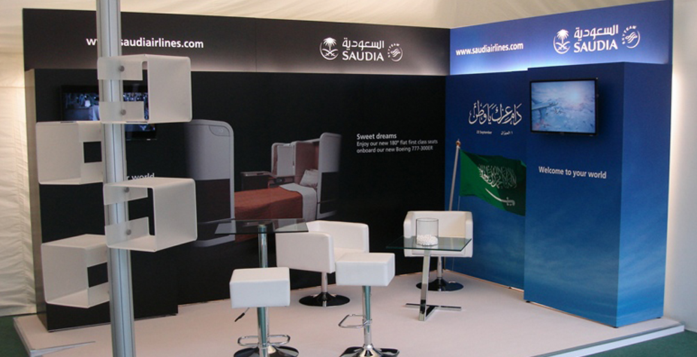Display Stand Hire London : Saudia airlines exhibition services london modular