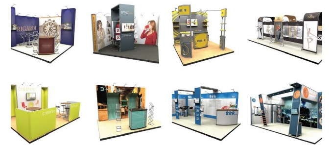 Modular Reusable Exhibition Stands : Stand build exhibition services london
